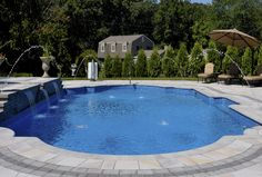 We offer many styles and shapes of Inground pools. Customers are free to select their ideal pool for their individual needs, space, and taste. Our team of designers and salespeople work with you to create your very own backyard resort. Be the envy of your friends and neighbors and order your pool today!