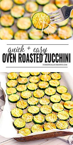 Looking for an easy side dish you can whip up in no time? This delicious oven roasted zucchini recipe has you covered with just a few simple ingredients. Roasted Zucchini Recipes, Zucchini Dinner Recipes, Zucchini Side Dishes, Side Dishes Easy, Vegetable Dishes, Zucchini Oven, Recipes Dinner, Baked Zucchini Parmesan, Cooking Zucchini