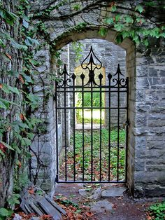 Deering Garden gate, Northwestern University campus