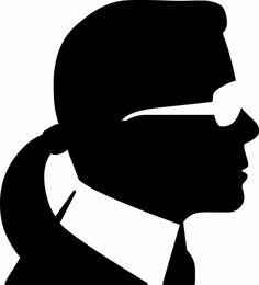 NOIR Black Beauty :: Black Karl Lagerfield Silhouette - Chanel Designer