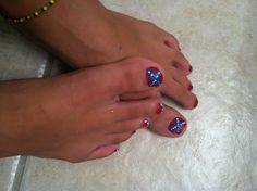 Rebel flag nail polish ❤