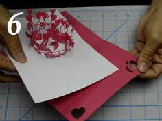 Hi Everyone! Here is an updated tutorial on making the Valentine's Day Kissing Couple Pop Up Card. This pop up card features a boy and girl in the center of the card, surrounded by a bouquet of flowers. As you open the card, the boy...