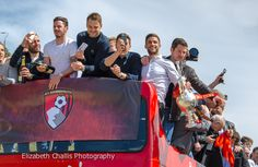 The celebratory parade for AFC Bournemouth becoming a Premier League team. Bournemouth University, Afc Bournemouth, Premier League Teams, Work Looks, How To Become, The Past, Activities, Business Look
