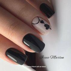 Black Nail Art, Black Nails, Pink Nails, My Nails, Black Art, Pink Black, Pink Nail Designs, Nails Design, Nail Designs With Hearts