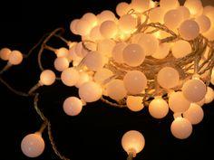 LED-Lichterkette - Ball Line Indoor - 21,00m - 200x Weiß lichterketten led-lichterketten