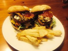 Loaded chicken burgers