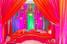 amazing decor for the mehndi ceremony! <3 @Maharani Saqina Saqina weddings