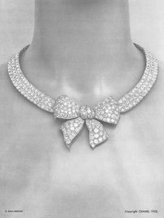 #Vintage #Chanel #Diamond #Bow (Noeud) #StatementNecklace #Designed by #PatrickMauries for #CocoChanel #HauteJoaillerie #BijouxdeDiamants #Photographed by #RobertBresson #1932  #VintageNecklace #VintageJewelry #Classic #Luxury #Jewelry #Necklace #DiamondsAreForever …. A #GirlsBestFriend  http://instagram.com/p/prRVj8gTDL/