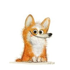 Hi there I am a freelance illustrator from Berlin. I am working on character desi … - Character Design Club 2019 Cute Animal Illustration, Cute Animal Drawings, Cartoon Drawings, Cute Drawings, Illustration Art, Animals Watercolor, Freelance Illustrator, Whimsical Art, Dog Art
