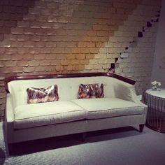 #neocon2013 leather wall, sofa, Councill Furniture