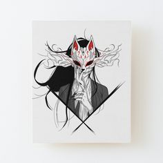 Hanya Tattoo, Kitsune Mask, Naruto Tattoo, Todays Mood, Cyberpunk Character, Bullet Journal Art, Sketch Pad, Masks Art, Anime