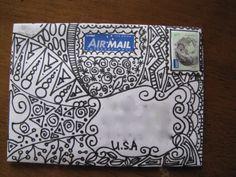 Zentangle envelope | mail art