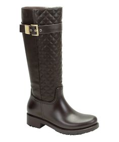 Look at this Brown Quilted Rainforest Boot on #zulily today!