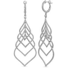 Kenza Lee Teardrop Chandelier Earrings ($4,450) ❤ liked on Polyvore featuring jewelry, earrings, 14k jewelry, chandelier earrings, teardrop chandelier earrings, sparkle jewelry and white gold jewelry