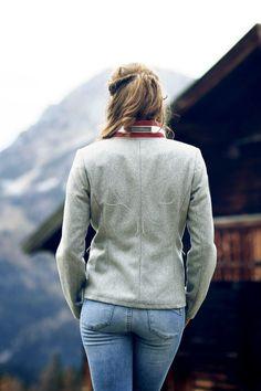 882a1d5ab2ebb Loden-Safari Jacke mit Taschen und Glitzergeweih