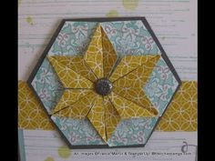 cardmaking video tutorial: Hexagon Punch for Star from frenchiestamps.com