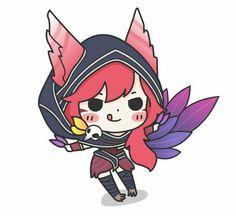 Chibi xayah so cute League Of Legends Characters, Lol League Of Legends, Kawaii Chibi, Anime Chibi, Character Poses, Character Art, Starcraft, Xayah Lol, Rakan League Of Legends