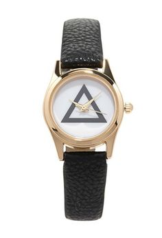 Faux Leather Geo-Faced Watch | via Forever 21 | #f21accessorize | #lyoness
