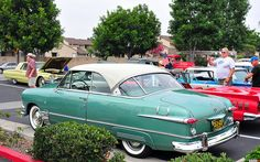 1951 Ford Victoria Hardtop Coupe - white over green metallic - rvl by Pat Durkin - Orange County, CA, via Flickr