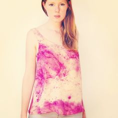 Purple Wash galaxy print top Textile print design by Lisa Engelhardt
