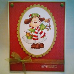 Shari G. has Jingle Pup a new release from High Hopes Rubber Stamps.  Check out all the details on the DT Blog for this adorable card.