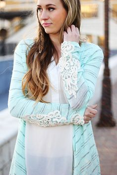 lace detail cardigan from so perla