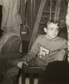 James Dean in his letter sweater from Fairmount High School #FairmountIndiana #JamesDean #JamesDeanBirthplace #GrantCountyIndiana