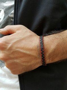 18 Diy Bracelets For Men Beads Loom Bracelet Patterns, Bead Loom Bracelets, Bracelet Crafts, Bracelets For Men, Diamond Cross Necklaces, Loom Beading, Bead Weaving, Beaded Jewelry, Creations