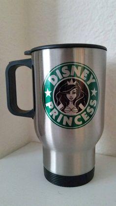 Disney Princess Starbucks Travel Mug Ariel by ThePrintParlor