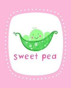 Sweet Pea Wall Art Print Pink by elissahudson on Etsy So cute! I call my Golden Sweet Pea. But then she has a lot of nicknames❤ Bohemian Nursery, Amazing Pics, Love Bugs, Sweet Girls, Kids Playing, Pretty In Pink, Pink And Green, Wall Art Prints, Hello Kitty