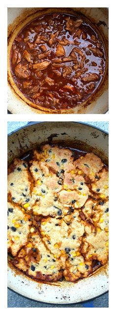 Pulled Pork with Black Bean Cornbread Topping | ReluctantEntertainer.com #backtoschool
