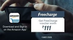 Amazon Appiness Day 11/11 - Shop With Amazon App & Get FreeCharge Voucher, Win Prizes & Get Discount  #Amazon #India #Apps #Freecharge #AppinessDay #Shopping #contest #Freebies #Cashback #Recharge