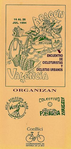 V Encuentros Cicloturistas de ConBici. Teruel - Valencia, 1994