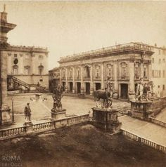 Campidoglio (Henri Plaut, 1859) Poster City, Bucharest, Old City, Narnia, Old Photos, Rome, Taj Mahal, Louvre, Architecture