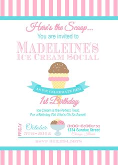 PRINTABLE: Ice Cream Social Cupcake Toppers, Birthday Cupcake Toppers, Ice Cream Social Birthday Cupcake Topper. $8.00, via Etsy.