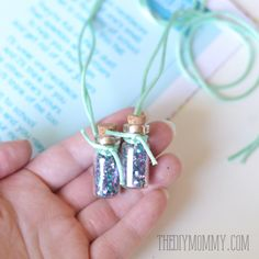 Jitter Glitter Necklace Back to School Gift and Free Printable Poem