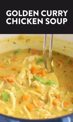 Coconut Curry Chicken Soup, Keto Chicken Soup, Chicken Chili, Chicken Lentil Soup, Chicken Broth Recipes, Chicken Protein, Chicken Soups, Coconut Soup, Hamburger Recipes