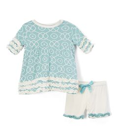 Look at this Jade Symphony Babydoll Tunic & Shorts - Infant & Toddler on #zulily today!