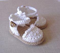 Baby Espadrille Sandals CROCHET PATTERN instant by matildasmeadow