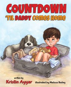 Countdown 'til Daddy Comes Home is a sweet book for children who have military fathers or dads that travel a lot. Read more about the book in this post! Military Brat, Military Deployment, Military Love, Military Spouse, Military Families, Deployment Tools, Army Brat, Army Family, Daddy Come Home