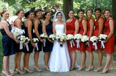 My July red white & blue wedding