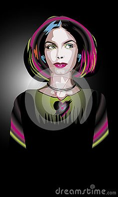 Illustration about A woman in a modern style with headphones. Illustration of woman, diluvial, present - 49877511 Headphones, Woman, Lady, Illustration, Modern, Style, Swag, Headpieces, Trendy Tree