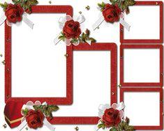 Wedding Frames with Red Roses
