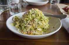 Staff Pick - Brussel Sprout Salad at Gozo | Denver Food | Places to Eat in Denver | Denver Foodies | Food Porn | Food Photography | Salad | Brussel Sprouts | Yum | Hungry | Denver | 303 Magazine