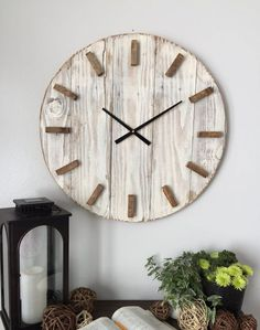 24 in wooden clock by