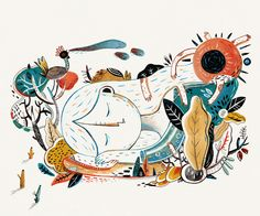ONE story on Behance, Illustration by Aditya Pratama