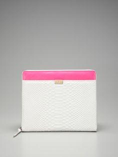 Zip Around Python iPad Case by Diane von Furstenberg on Gilt...just a little pink