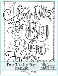 Free Coloring Page Hey Go Or Home
