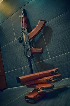 variant as a sub-carbine short rifle stashed away in the safe room. Rifles, Airsoft, Ak 47, Weapons Guns, Guns And Ammo, Kalashnikov Rifle, Battle Rifle, Fire Powers, Military Guns