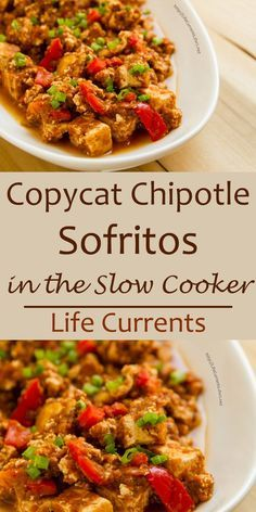 Copycat Chipotle Sofritos in the Slow Cooker or crock pot - Braised Tofu in a…